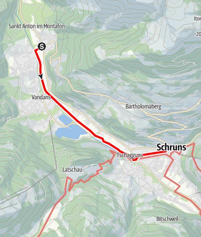 Map / St. Anton - Schruns