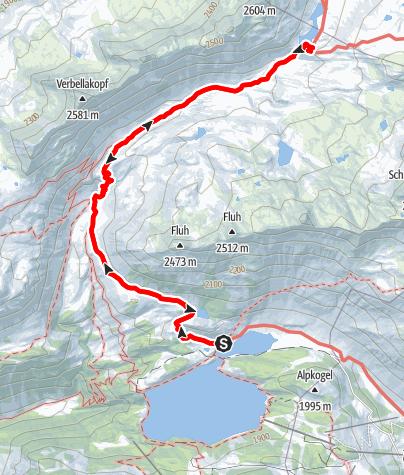 Map / Zeinisjoch - N. Heilbronner Htt.