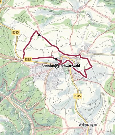 Karte / Panoramarundweg Bonndorf