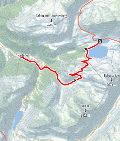 Karte / Kops - Breitspitz - Partenen