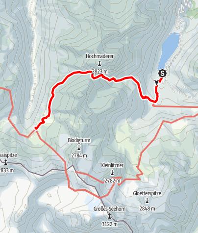Map / Vermuntstausee - Tübinger Hütte
