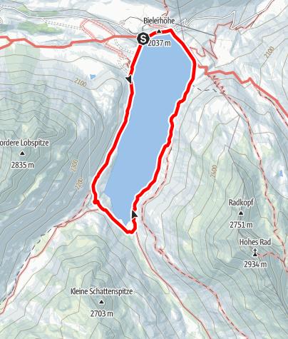 Map / Bielerhöhe - Seerundweg