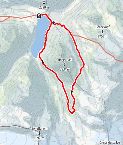 Map / Bielerhöhe - Radsattel