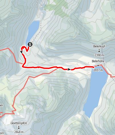 Karte / Vermuntsee - Silvretta-Bielerhöhe