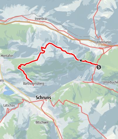 Map / Kristberg - Alpe Latons - Rellseck - Kristberg