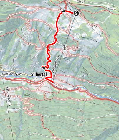 Karte / Kristberg - Fula - Silbertal