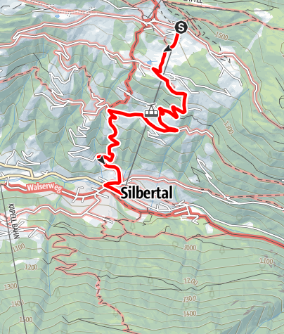 Karte / Kristberg - Schöni - Silbertal
