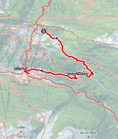 Karte / Kristberg - Stieralpe Oberbuchen - Buchen - Silbertal