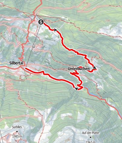 Map / Kristberg - Siebenbrünnele - Buchen - Teufelsbach - Silbertal