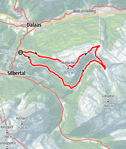 Karte / Muttjöchle Rundwanderung