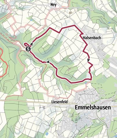 Karte / Rundweg 17 - Halsenbach-Baunhöller Mühle