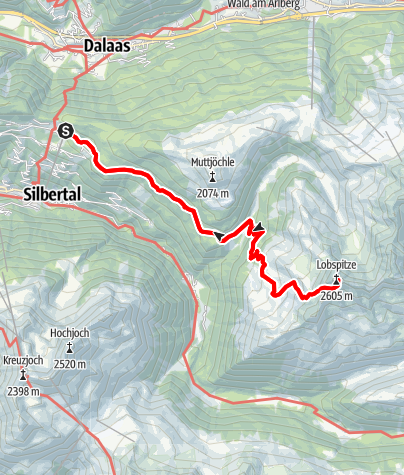 Karte / Kristberg - Lobspitze