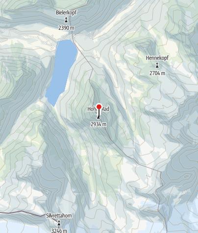 Karte / Hohes Rad (2934 m)