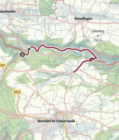 Karte / Wanderung von der Schattenmühle nach Boll