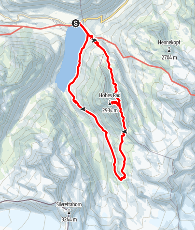 Map / Hohes Rad (2934 m)