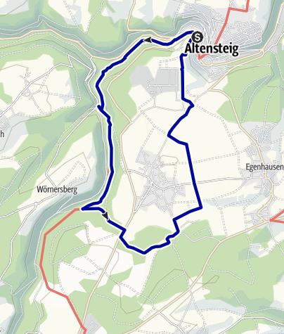 Karte / Durchs Mühlental zum Naturlehrpfad