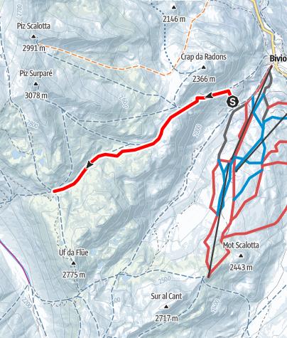 Map / Stallerberg 2581 m ü.M.
