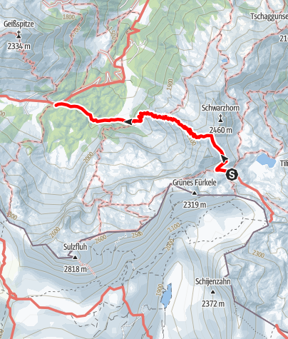 Karte / Montafoner Hüttenrunde - Tilisunahütte bis Lindauer Hütte