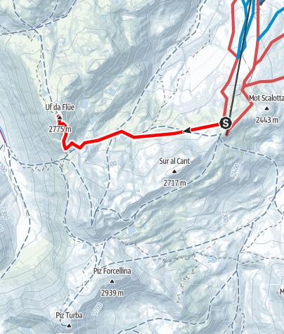 Karte / Auf den Flühen 2774 m ü.M.