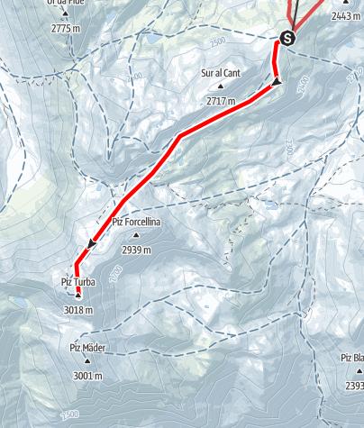 Karte / Piz Turba 3018 m ü.M.
