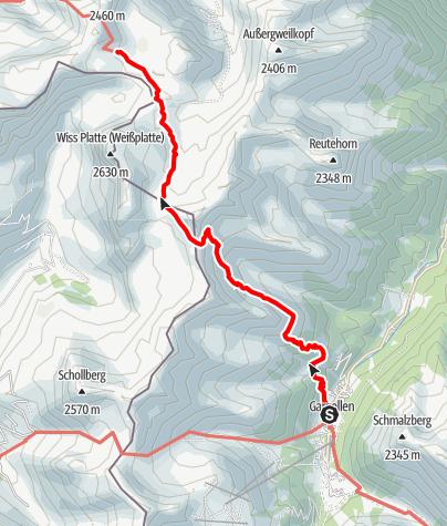 Map / Montafoner Hüttenrunde - Tilisuna Hütte bis Tübinger Hütte