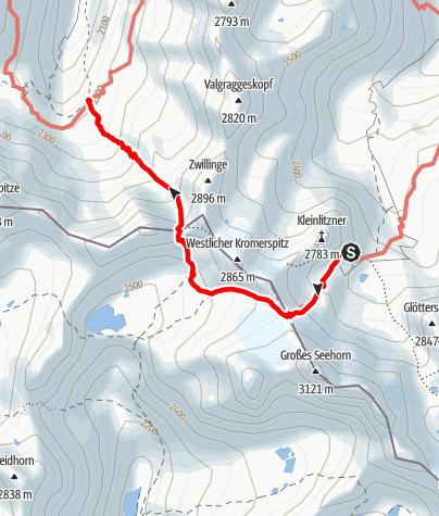 Map / Montafoner Hüttenrunde - Tübinger Hütte bis Saarbrückner Hütte
