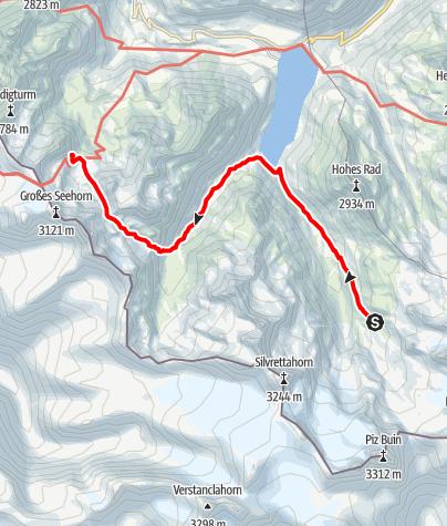 Map / Montafoner Hüttenrunde - Saarbrückner Hütte bis Wiesbadener Hütte