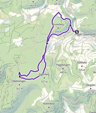 Karte / Sauerland-Höhenflug-Trailrun: 10 km