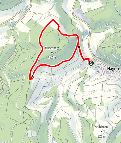 Karte / Sauerland-Höhenflug-Trailrun: 5 km