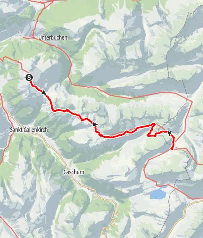 Karte / Montafoner Hüttenrunde - Wormser Hütte bis Neue Heilbronner Hütte
