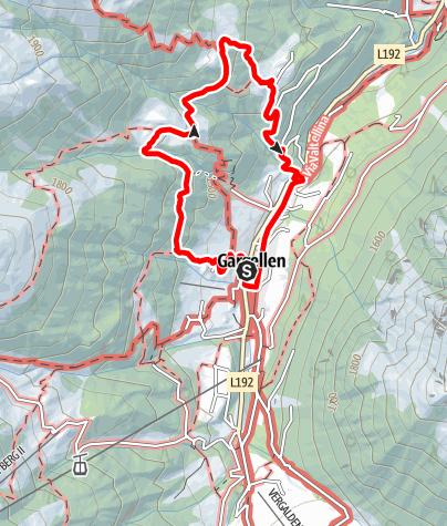 Karte / Von Gargellen zur Ronggalpe und Röbialpe und retour