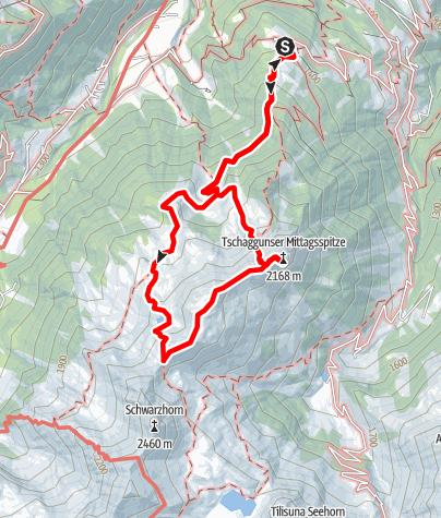Map / Tschaggunser Mittagspitze (2168 m)