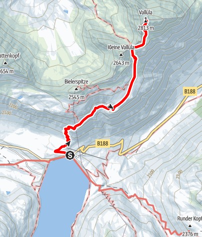 Map / Vallüla (2813 m)