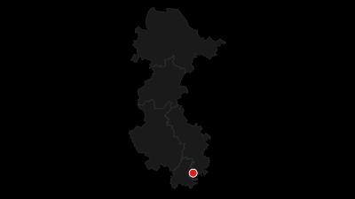 Karte / Weser-Radweg: Hauptroute Gesamt