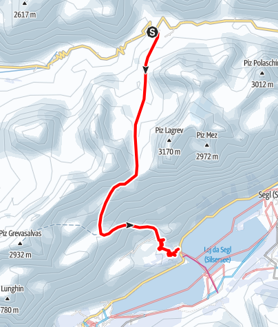 Map / Fuorcla Grevasalvas 2688 m ü.M.