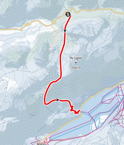 Karte / Fuorcla Grevasalvas 2688 m ü.M.