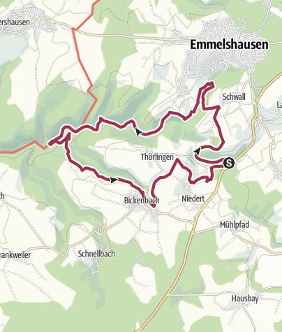 Karte / Traumschleife Oberes Baybachtal
