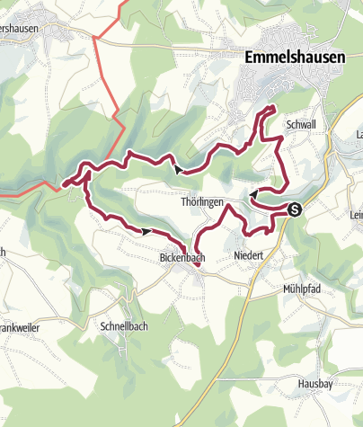 Map / Traumschleife Oberes Baybachtal