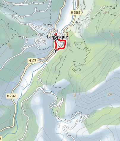 Karte / Les Canyons de Lantosque