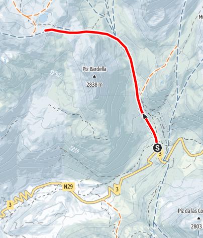 Map / Fuorcla digl Leget 2711 m ü.M.