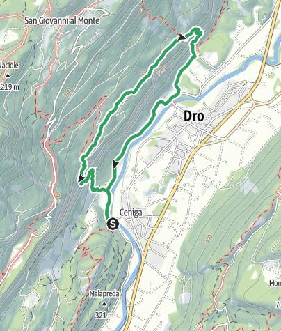 """Map / Bolted trail """"degli Scaloni"""" - """"delle Cavre"""" - """"dell'Anglone"""""""