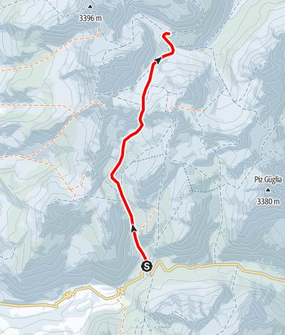 Karte / Jürg - Jenatsch - Hütte 2652 m ü.M.