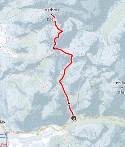 Map / Piz Calderas 3397 m ü.M.