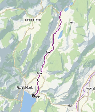 Cartina / La pista ciclabile Torbole sul Garda - Sarche