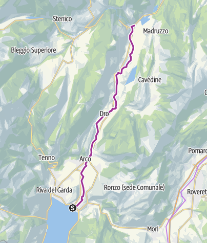 Map / The Torbole sul Garda – Sarche cycle path