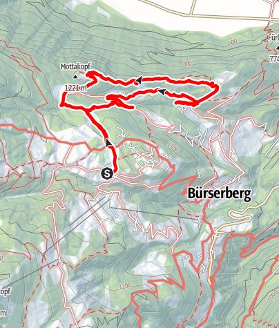 Karte / Tschalengagratweg
