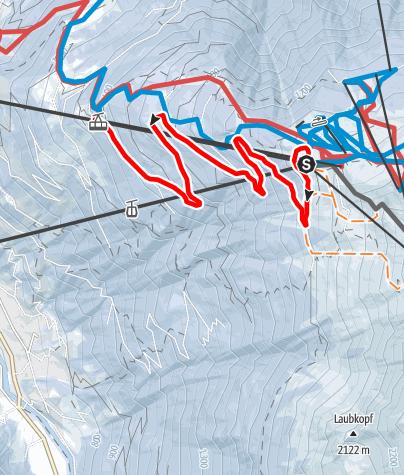 Karte / Naturrodelbahn Kapell - Kropfen (Hochjoch Bahn)
