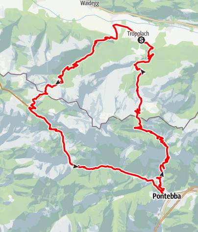 Karte / HP3 - Rattendorfer Alm - Pontebba