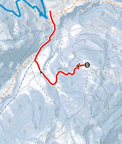 Karte / Naturrodelbahn Grabs - Latschau