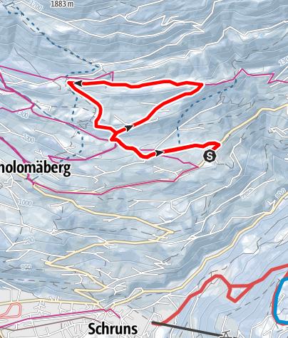 Kaart / Bartholomäberg - Fernblick